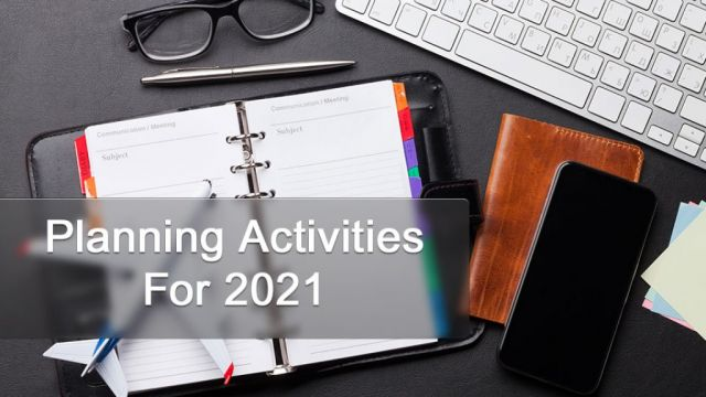 Planning Activities For 2021