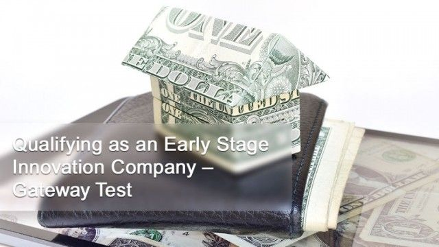 Qualifying as an Early Stage Innovation Company – Gateway Test
