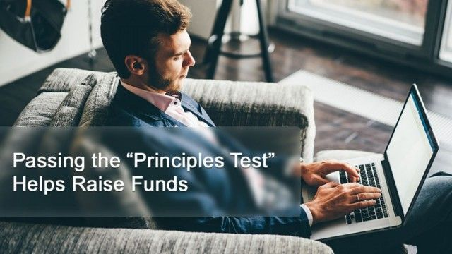 "Passing the ""Principles Test"" Helps Raise Funds"